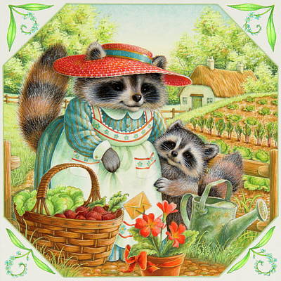 Raccoon Painting - For Mom by Lynn Bywaters