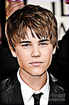 Justin Digital Art - For The Belieber In You by The DigArtisT