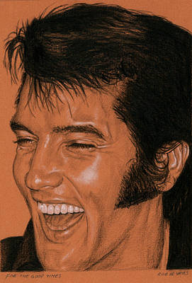 Singer Drawing - For The Good Times by Rob De Vries