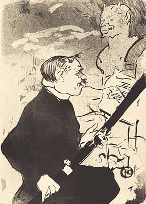 Lithograph Painting - For You by Henri de Toulouse-Lautrec