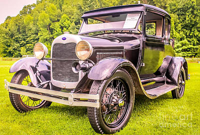 Antic Car Photograph - Ford - 1927 by Claudia M Photography