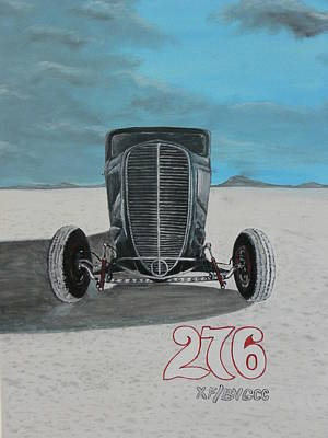 Ford 34' At Bonneville Print by Chris Lambert