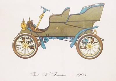 Ford ''a'' Tonneau 1903 Print by Gabriela Talleagle