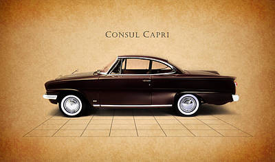 Photograph - Ford Consul Capri by Mark Rogan