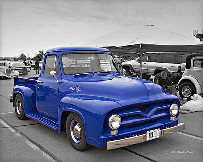 Ford F100 Pick Up_a Print by Walter Herrit