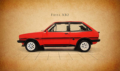 Ford Fiesta Xr2 Print by Mark Rogan