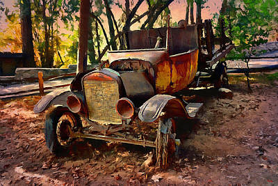 Rusted Cars Digital Art - Ford Flatbed Truck by Glenn McCarthy Art and Photography