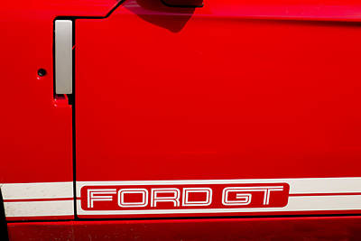 Sports Artist Photograph - Ford Gt Door by Georgia Fowler