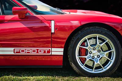 Ford Gt Side Emblem - Wheel -ck2352c Print by Jill Reger