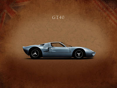 Photograph - Ford Gt40 by Mark Rogan