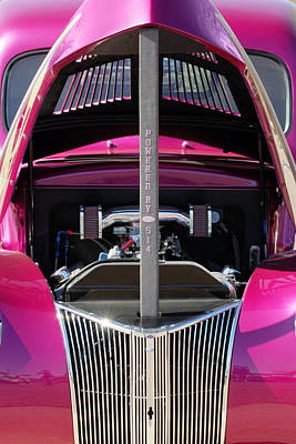Ford Hot Rod Grille Print by Jill Reger