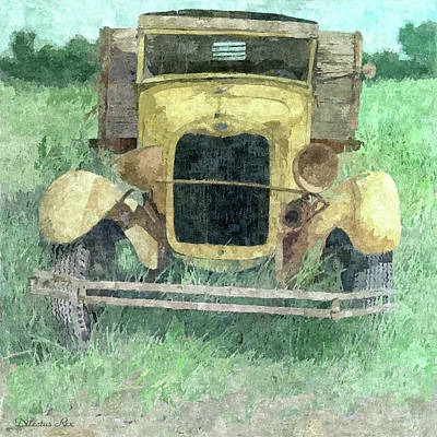 Truck Digital Art - Ford In The Grass by Dilectus Rex