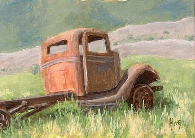 Truck Painting - Ford On The Range by David King