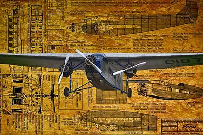 Ford Trimotor 2 Print by Todd and candice Dailey