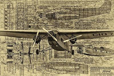 Ford Trimotor 3 Print by Todd and candice Dailey