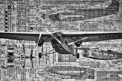 Ford Trimotor 4 Print by Todd and candice Dailey
