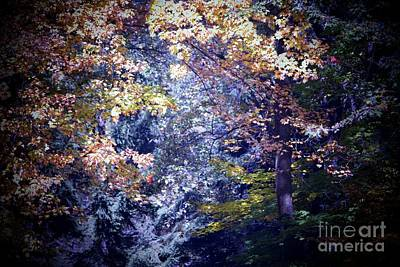 Forest Abstract Print by Marjorie Imbeau