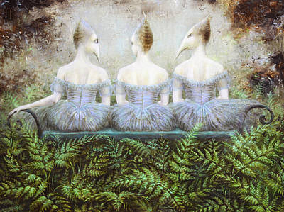 Birdman Painting - Forest Divas by Lolita Bronzini