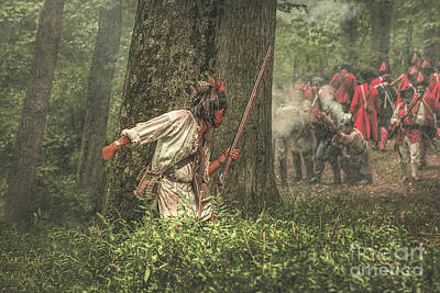 Muzzleloader Digital Art - Forest Fight by Randy Steele