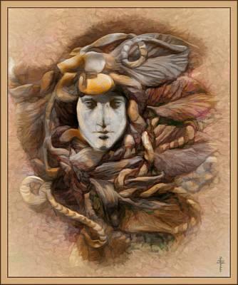 Druid Photograph - Forest Goddesses  -  Ahlyather  -  Autumn Version  by Daniel Arrhakis