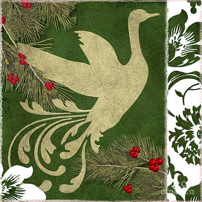 Christmas Painting - Forest Holiday Christmas Goose by Mindy Sommers