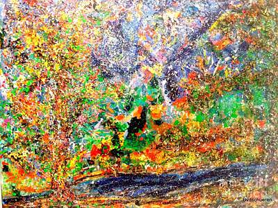 Abstract Painting - Forest In All Seasons Star by Bart Van Der Schueren