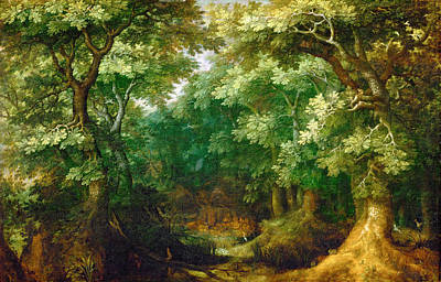 Painting - Forest Landscape by Gillis van Coninxloo