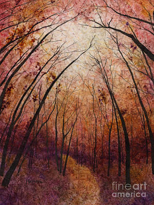 Tall Tree Painting - Forest Path by Hailey E Herrera