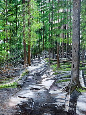 Forest Path Print by Marilyn  McNish