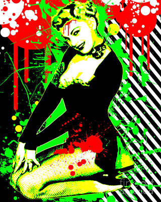 Garter Belts Mixed Media - Forever Pinup IIi by Chris Andruskiewicz
