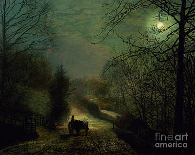 Grimshaw Painting - Forge Valley by John Atkinson Grimshaw
