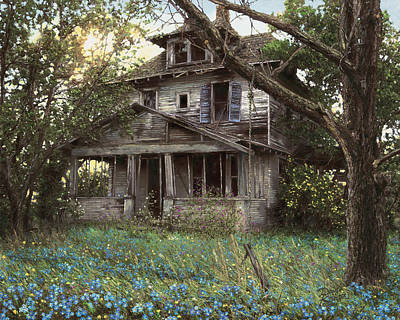 Old House Painting - Forget-me-not by Doug Kreuger