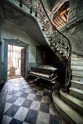 Dirk Photograph - Forgotten Ancient Piano - Urban Exploration by Dirk Ercken