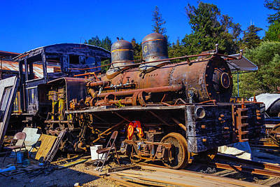 Junk Photograph - Forgotten Engine by Garry Gay