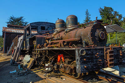 Junk Photograph - Forgotten Engine Number Six by Garry Gay