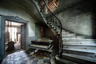 The Sound Of Decay - Abandoned Piano Print by Dirk Ercken