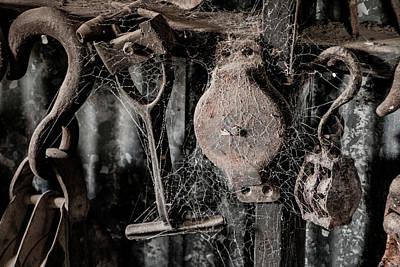 Relic Glass Photograph - Forgotten Tools by Teresa Wilson