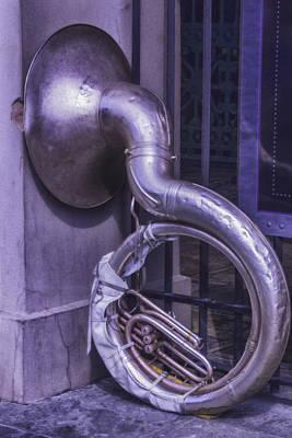 Nola Photograph - Forgotten Tuba by Garry Gay