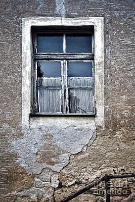 Forgotten Window Print by Jutta Maria Pusl
