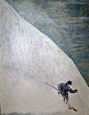 Ski Painting - Form by Michael Cuozzo