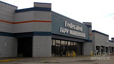 Former Walmart Store, Converted To An Auto Parts Warehouse Print by Ben Schumin