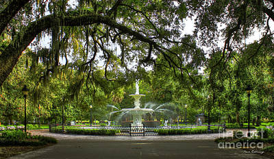 Forsyth Park Fountain Historic Savannah Georgia Print by Reid Callaway
