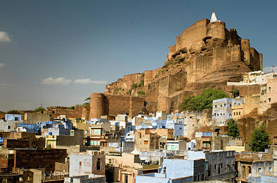 Built Structure Photograph - Fort Mehrangarh And Old Town In Jodhpur by Ania Blazejewska