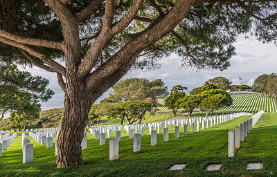 San Diego Photograph - Fort Rosecrans National Cemetery Photograph by Duane Miller