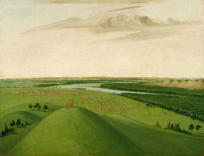 George Catlin Painting - Fort Union Mouth Of The Yellowstone River 2000 Miles Above St Louis by George Catlin