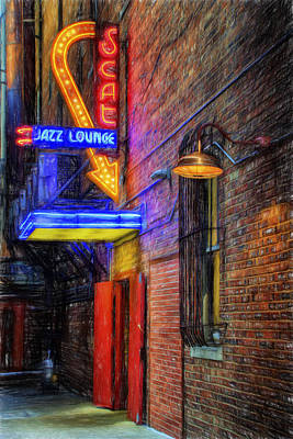 Fort Worth Impressions Scat Lounge Print by Joan Carroll