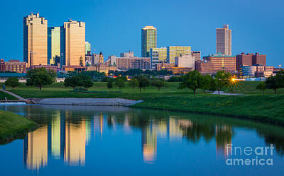 Dallas Photograph - Fort Worth Mirror by Inge Johnsson