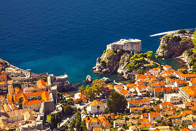 Dubrovnik Photograph - Fortress Of Dubrovnik From Above by Sandra Rugina