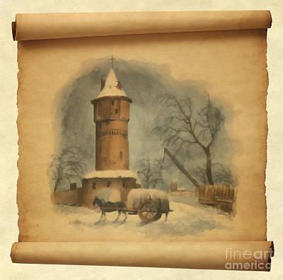Fortress Tower Print by Sergey Lukashin