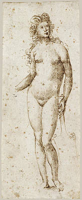 Drawing - Fortune by Marcantonio Raimondi